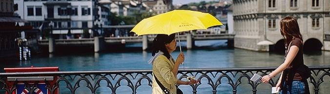paraplu met goed weer